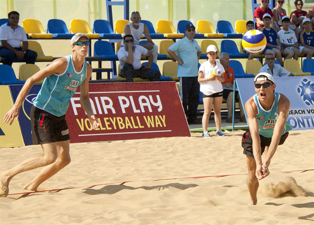 Third round of beach volleyball competitions among men started as part of first European Games in Baku