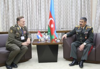 Azerbaijani defense minister meets representatives of several countries' armed forces