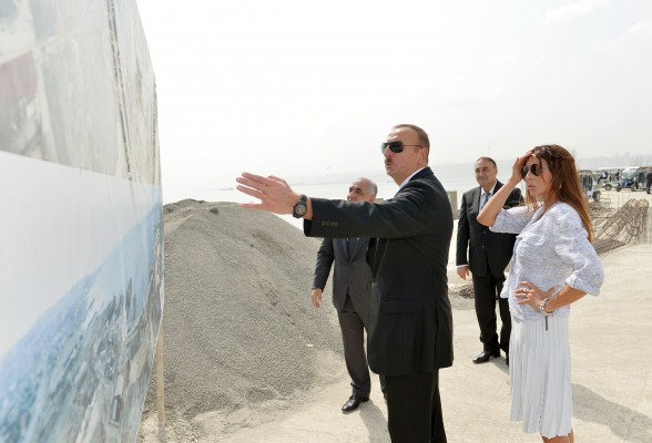 Azerbaijani president, his spouse review progress of construction at White City Boulevard - Gallery Image