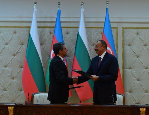 Azərbaycan-Bolqarıstan birgə bəyannaməsi imzalanıb (FOTO) - Gallery Image