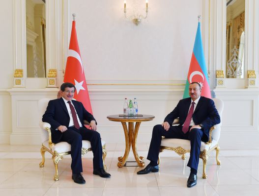 Azerbaijani president holds one on one meeting with Turkish PM