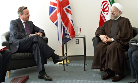 Leaders of UK and Iran meet for first time since 1979 Islamic revolution
