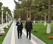President Ilham Aliyev reviewed the reconstruction work at park named after Heydar Aliyev - Gallery Thumbnail