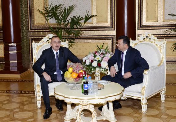 Azərbaycan Prezidenti İlham Əliyev Tacikistana rəsmi səfərə gəlib (FOTO) - Gallery Image