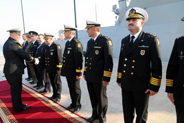 В Баку прибыли два корабля Каспийской флотилии ВМФ России (ФОТО) - Gallery Image