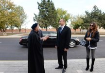 President Aliyev reviews restoration and construction work at Imamzade Complex in Ganja - Gallery Thumbnail