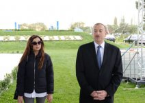 President Aliyev attends ceremony of water supply system reconstruction in Goranboy - Gallery Thumbnail