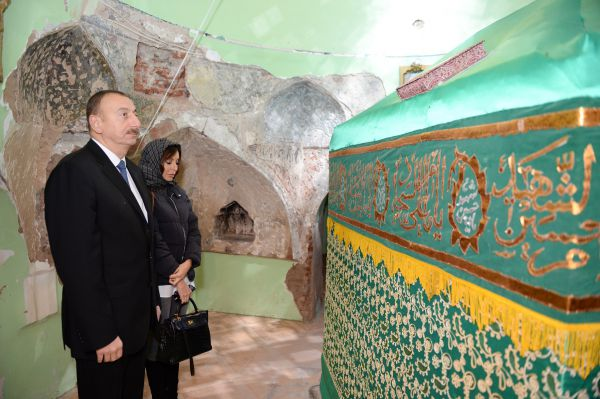 President Aliyev reviews restoration and construction work at Imamzade Complex in Ganja