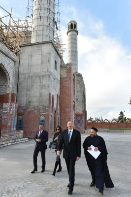 President Aliyev reviews restoration and construction work at Imamzade Complex in Ganja - Gallery Image