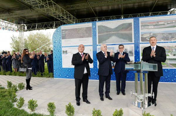 President Aliyev attends ceremony of water supply system reconstruction in Goranboy - Gallery Image