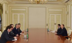 Azerbaijani president receives delegation led by Speaker of Albania's Parliament - Gallery Thumbnail