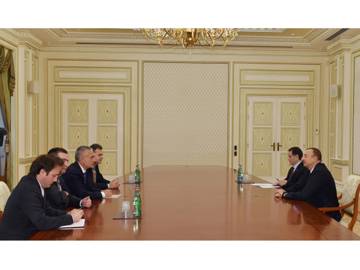 Azerbaijani president receives delegation led by Speaker of Albania's Parliament