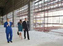 President Aliyev, his spouse review progress of construction at Skeet Shooting Complex - Gallery Thumbnail
