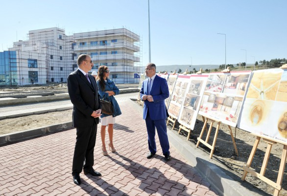President Aliyev, his spouse review progress of construction at Skeet Shooting Complex