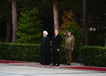 Baku hosts official welcome ceremony for Iran's president (PHOTO) - Gallery Thumbnail