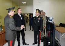President Ilham Aliyev attended the opening of a new building of the headquarters in the military town of Shamkir military formation (PHOTO) - Gallery Thumbnail