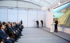 Президент Ильхам Алиев принял участие в церемонии открытия Шамкирчайского водохранилища (ФОТО) - Gallery Thumbnail