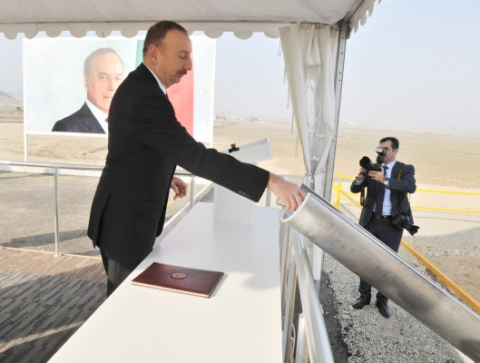 President Ilham Aliyev attended a ceremony to lay the foundation of Shamkir Agropark (PHOTO) - Gallery Image