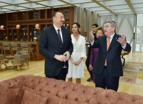 Azerbaijani president awarded with International Olympic Committee's medal - Gallery Thumbnail