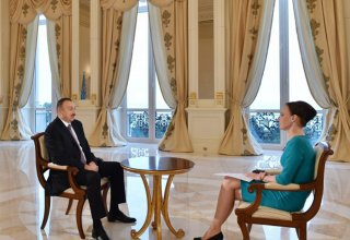 """Azerbaijani president interviewed by """"Russia-24"""" news channel"""