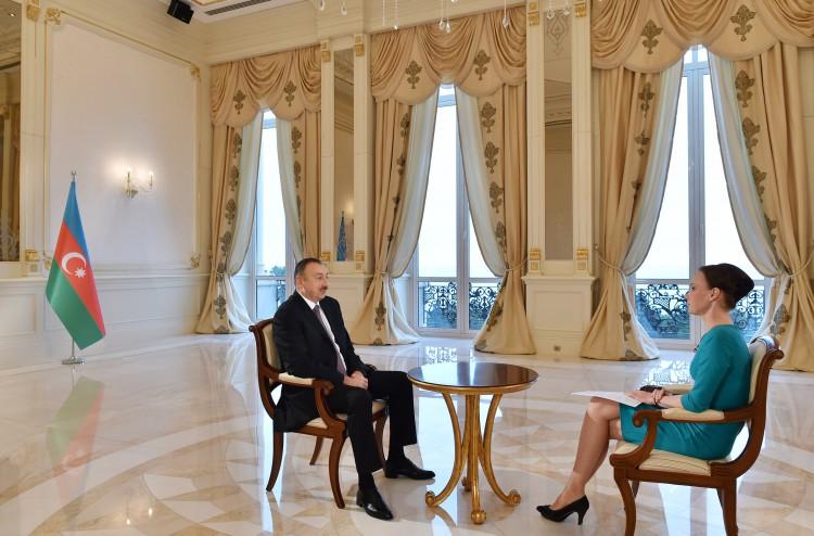 Президент Азербайджана дал интервью  телеканалу «Россия-24» - Gallery Image