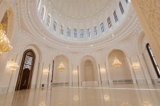 Azerbaijani president and his spouse review final stage of construction of Heydar Mosque - Gallery Thumbnail