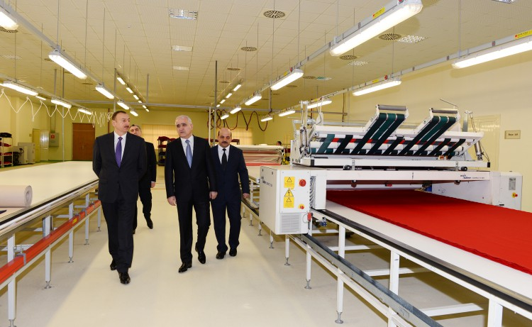 President Aliyev attended the opening of sewing factory in Sumgayit - Gallery Image