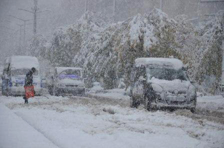 Lessons canceled in Turkish province due to heavy snowfall