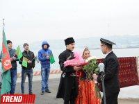 Состоялась торжественная встреча туркменского судна «Беркарар» в Бакинском порту (ФОТО) - Gallery Thumbnail