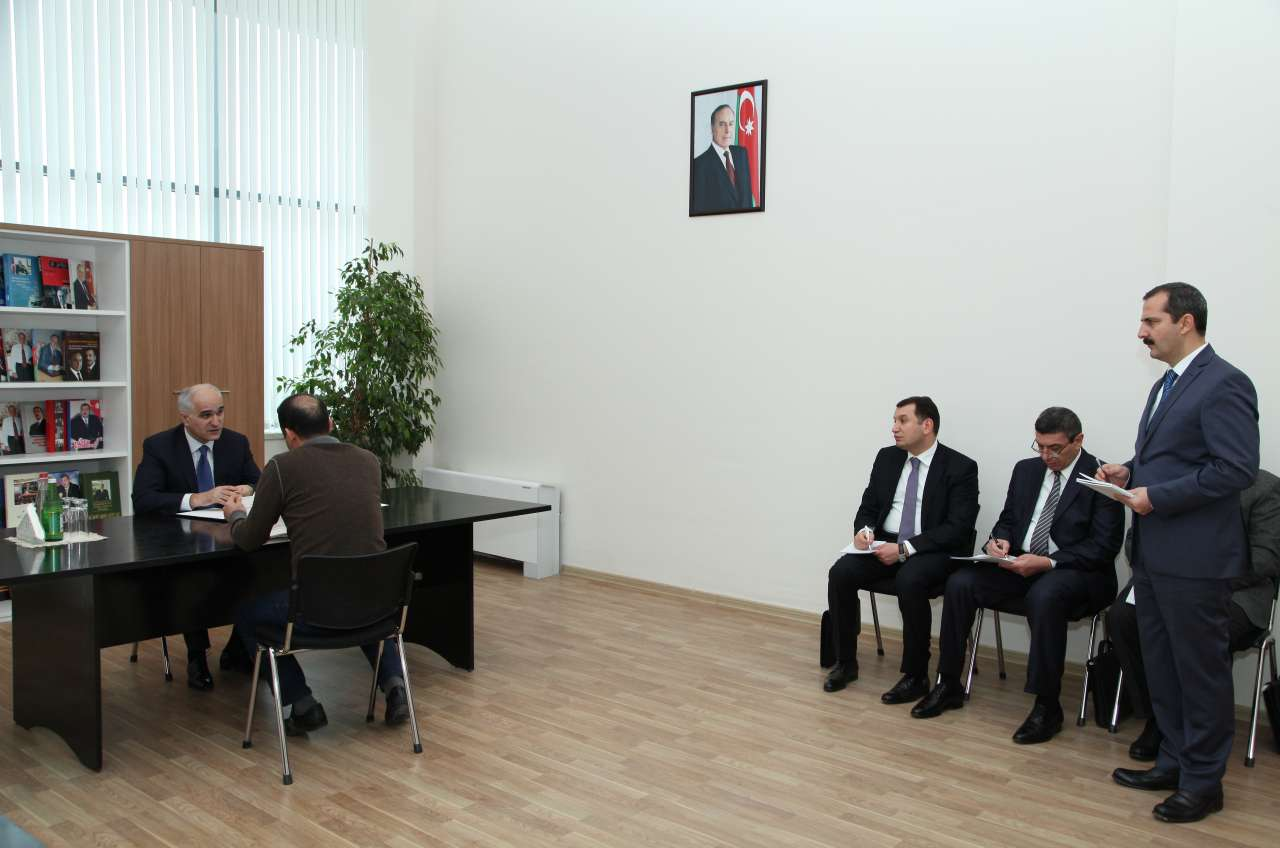 Şahin Mustafayev ilk vətəndaş qəbulunu Neftçalada keçirib (FOTO) - Gallery Image