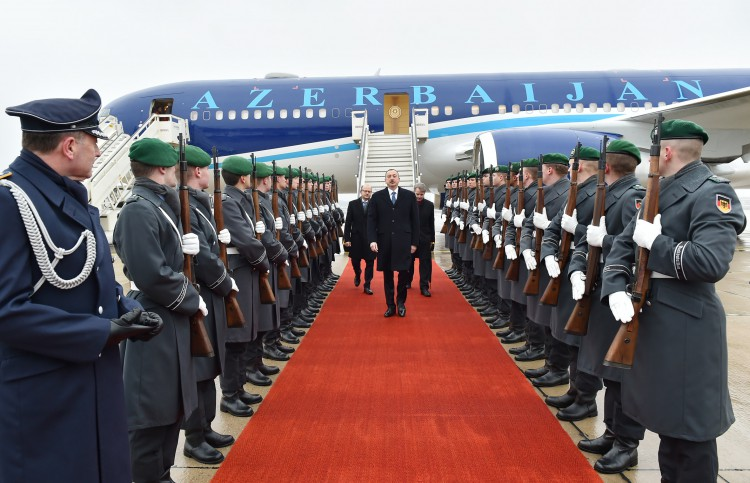 Azerbaijan's president arrives in Germany for working visit - Gallery Image