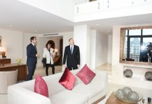 Azerbaijani president and his spouse visit Shahdag tourism complex (PHOTO) - Gallery Thumbnail