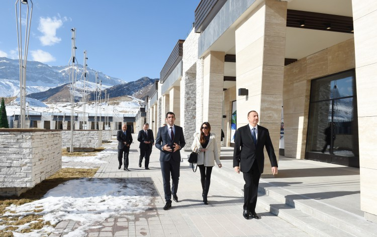 Azerbaijani president and his spouse visit Shahdag tourism complex (PHOTO) - Gallery Image