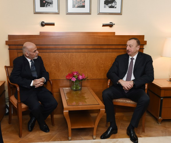 President Ilham Aliyev meets with Afghan president in Munich (PHOTO) - Gallery Image