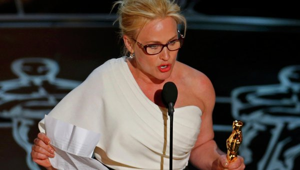 Patricia Arquette wins best supporting actress Oscar for her role in Boyhood