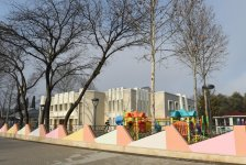 President Ilham Aliyev attends opening of kindergarten, construction of which was initiated by Heydar Aliyev Foundation in Mingachevir - Gallery Thumbnail