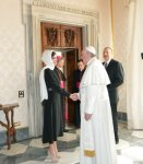 President Ilham Aliyev and his spouse met Pope Francis (PHOTO) - Gallery Thumbnail