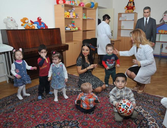 Vice-president of Heydar Aliyev Foundation Leyla Aliyeva visits several boarding schools on the eve of Novruz Holiday (PHOTO) - Gallery Image
