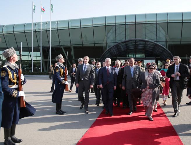 Pakistan Prezidenti Məmnun Hüseynin Azərbaycana rəsmi səfəri başa çatıb (FOTO)