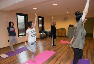 Open class on yoga held for media representatives at Excelsior Hotel Baku