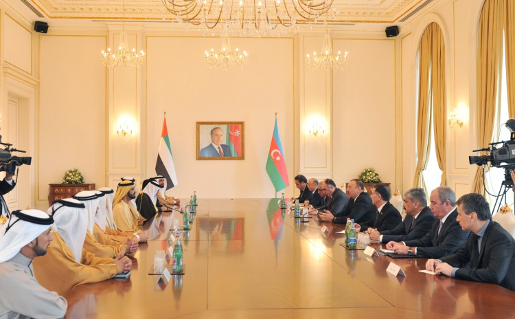 Ilham Aliyev, UAE vice president and PM hold expanded meeting (PHOTO) - Gallery Image