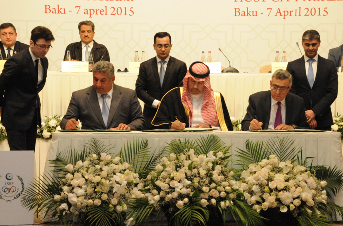Ceremony of signing contract to hold IV Islamiada in Azerbaijan takes place (PHOTO)