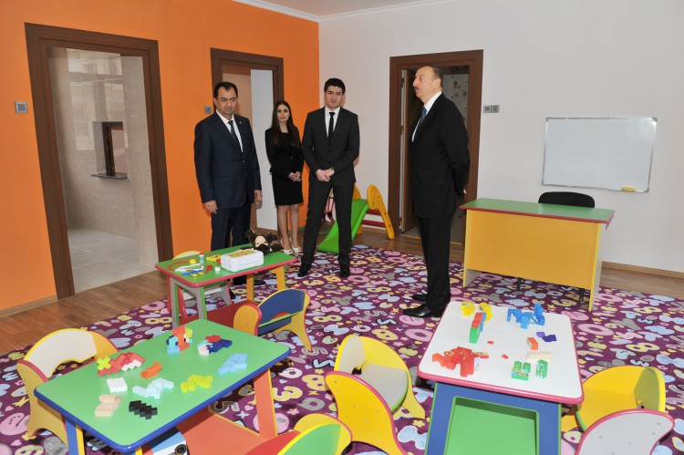 President Ilham Aliyev attended the opening of a newly-constructed kindergarten in Lankaran (PHOTO)
