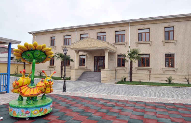 President Ilham Aliyev attended the opening of a newly-constructed kindergarten in Lankaran (PHOTO) - Gallery Image