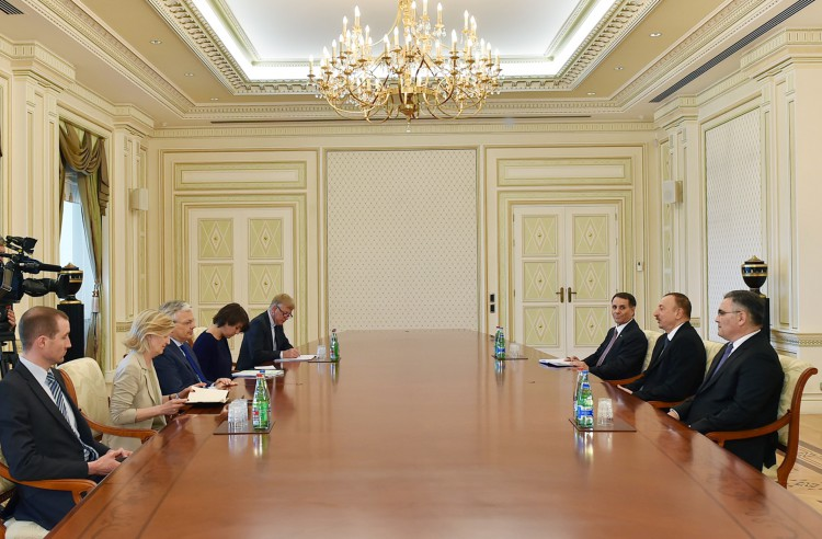 Ilham Aliyev receives delegation led by Belgian deputy PM