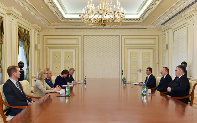 Ilham Aliyev receives delegation led by Belgian deputy PM - Gallery Image