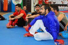 Avropa Oyunları Təşkilat Komitəsinin nümayəndələri karate yarışlarının iştirakçıları ilə görüşüblər (FOTO) - Gallery Thumbnail