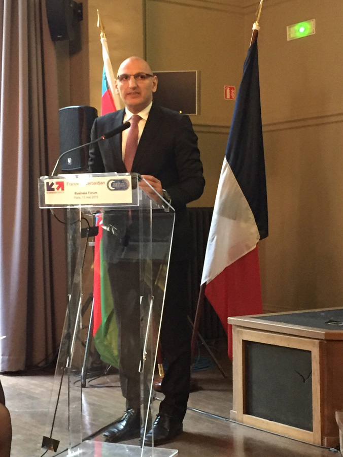 Paris hosts second business forum France-Azerbaijan 2015 (PHOTO) - Gallery Image