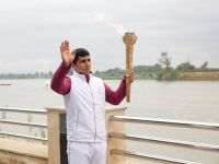 European Games' torch brought to Azerbaijan's Yevlakh district (PHOTO) - Gallery Thumbnail