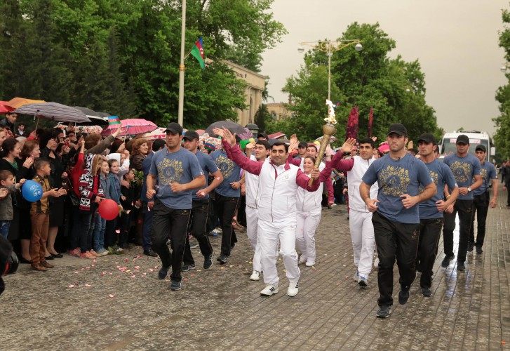 European Games' torch brought to Azerbaijan's Yevlakh district (PHOTO)